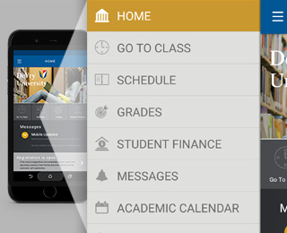 Managing school with DeVry's current student app