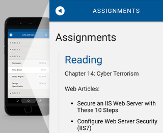 Accessing assignments on the phone