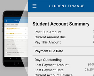 Access student account on the app